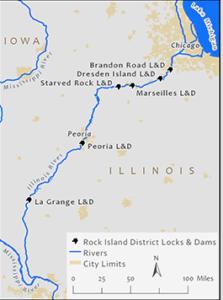 Closures will start this summer as the Corps of Engineers makes improvements on the Illinois Waterway. Corps of Engineers Rock Island District image