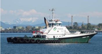 Foss Maritime's 8,000-hp, 137'x46' Lindsey Foss and Garth Foss were the first true purpose-designed tanker escort tugs in the world. Foss Maritime photo