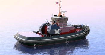 The contract includes options to build up to 10 new tugs. The shipyard has built 38 tugs for Moran since September 1999. Jensen Maritime Consultants photo