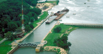 The Starved Rock Lock and Dam is one of six sites on the Illinois Waterway where the Corps of Engineers plans to make major repairs. Corps of Engineers Rock Island District photo