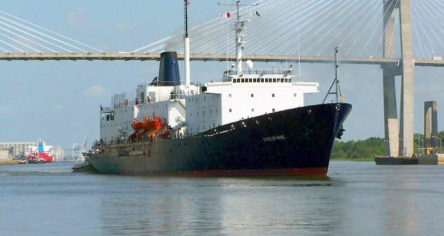The training ship State of Maine was launched in 1990 as a Navy oceanographic vessel. Maine Maritime Academy photo