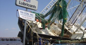 Hurricane Katrina: A boat, displaced and damaged in the aftermath of Hurricane Katrina, in late August/early September of 2005 in the U.S Gulf of Mexico region. Image credit: NOAA