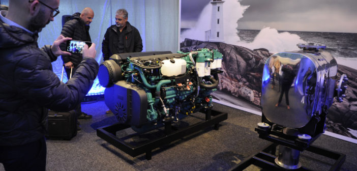Volvo Penta held a Media Day in Gothenburg, Sweden, last week to introduce the new D4 and D6 to the marine press. Volvo Penta photo