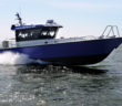 The 13.5mx4m (44'x13') PTA70, sporting twin D6-440A Volvo Penta engines, producing 440 hp at 3,700 rpm each. Volvo Penta photo