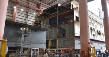 One of Gulf Island Shipyards' current projects is a mid-body extension for American Queen Steamboat Co. American Queen Steamboat Co.
