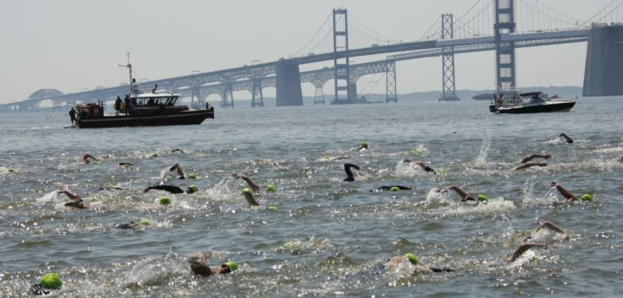 Vessel traffic will be limited during the Great Chesapeake Bay Swim event on June 9. GCBS photo