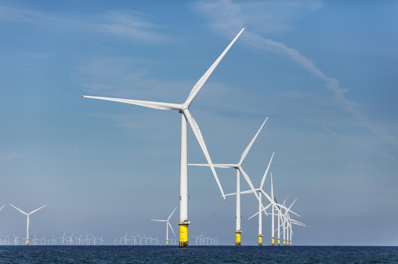 Ørsted's Burbo Bank Extension Wind Farm in the Irish Sea. The Denmark-based energy company will develop 1,100 MW of offshore wind power east of Atlantic City, N.J. Ørsted photo