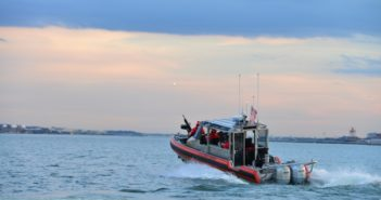 Coast Guard 29' response boat small crews are enforcing the rules on illegal charter boat operators. Coast Guard photo