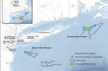 New York state entered power agreements with offshore wind developers Equinor and Ørsted for a combined 1.7 gigawatts of power by 2024. NYSERDA image