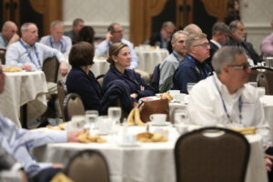 A breakfast meeting updating the offshore wind energy industry attracted 225. Doug Stewart photo.