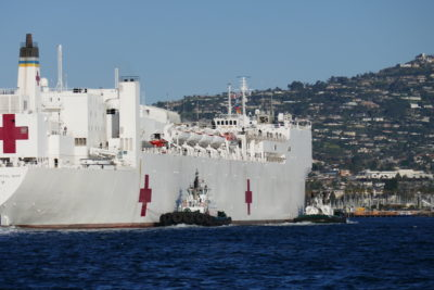 Foss tugs assist Navy hospital ship in Los Angeles