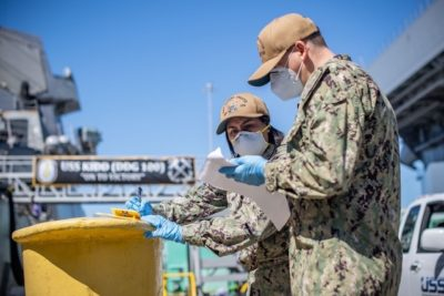 USS Kidd swaps crew in next phase of Covid-19 response