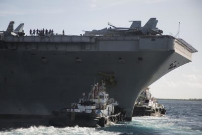 USS Theodore Roosevelt back at sea after Covid-19