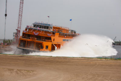 Eastern Shipbuilding launches second new Staten Island ferry
