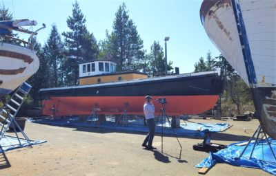 Elliott Bay Design Group part of wooden tug's restoration team