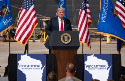 President Trump visits Fincantieri Marinette Marine shipyard