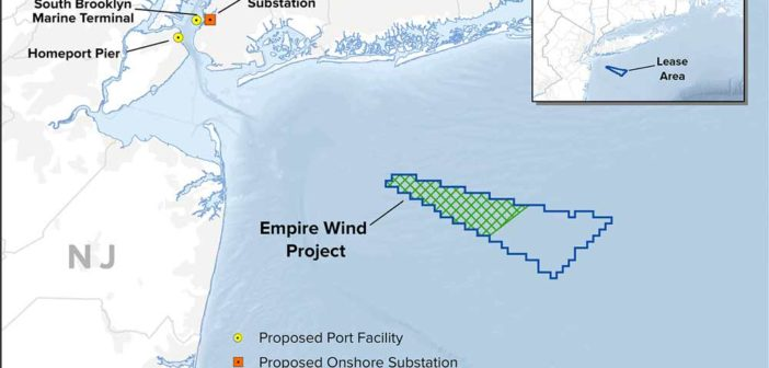 BP is buying a 50 percent share in Equinor's Empire Wind project near New York Harbor and its Beacon Wind lease off Massachusetts. NYSERDA image.