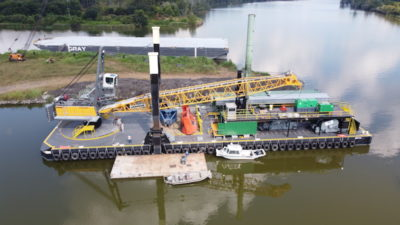 LAD Services of Louisiana delivers Shearer Group-designed dredge barge