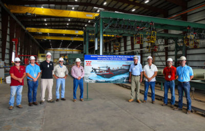 Eastern Shipbuilding lays keel for new trailing suction hopper dredge