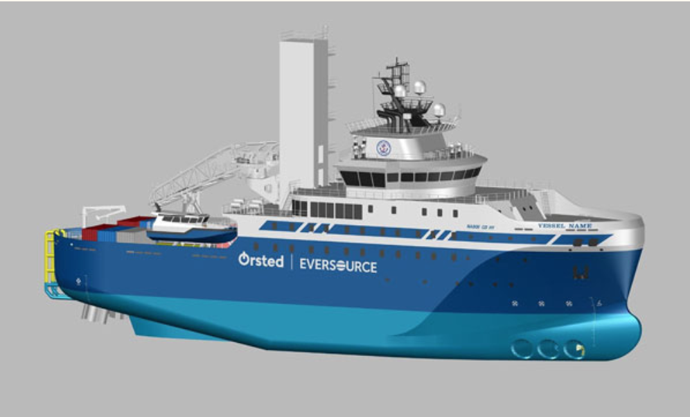 Edison Chouest Offshore will build a 260' service operations vessel for Northeast offshore wind turbine projects. ECO image.