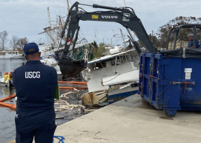 Coast Guard focus after Hurricane Sally shifts to pollution cleanup, salvage operations
