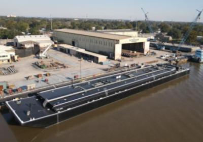Conrad Shipyard delivers two asphalt barges to Alabama