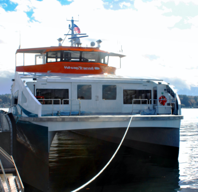 Kitsap Transit takes delivery of first of two new ferries from Nichols Brothers